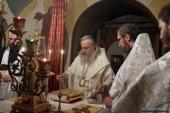 Председатель Синодального отдела по монастырям и монашеству освятил главный храм Заиконоспасского ставропигиального монастыря