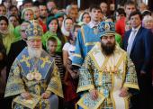 В праздник Успения Пресвятой Богородицы Святейший Патриарх Кирилл и Блаженнейший Митрополит Чешских земель и Словакии Ростислав совершили Литургию в Успенском соборе Московского Кремля