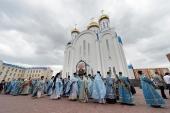 Состоялись торжества по случаю престольного праздника главного храма Казахстана — Успенского собора в Астане