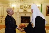 Состоялась встреча Святейшего Патриарха Кирилла с министром образования РФ Ольгой Васильевой