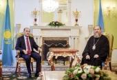 Глава Казахстанского митрополичьего округа встретился с председателем Комитета по делам религий Республики Казахстан