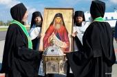График российского этапа принесения мощей преподобного Силуана Афонского