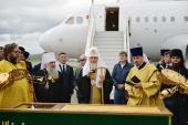 Святейший Патриарх Кирилл прибыл в Горно-Алтайск