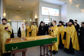 Святейший Патриарх Кирилл возглавил перенесение мощей святителя Макария (Невского) из Троице-Сергиевой лавры в Горно-Алтайск
