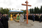 Патриарший визит в Горноалтайскую епархию. Закладка Спасского собора в Горно-Алтайске
