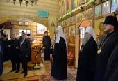 Святейший Патриарх Кирилл посетил храм преподобного Макария (Глухарева) в Горно-Алтайске