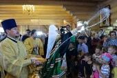 Святейший Патриарх Кирилл освятил храм в честь иконы Божией Матери «Призри на смирение» в Невельске