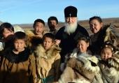 Святейший Патриарх Кирилл посетил оленеводческую бригаду в Канчаланском районе Чукотки