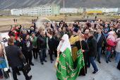 Святейший Патриарх Кирилл совершил чин освящения храма в чукотском поселке Эгвекинот