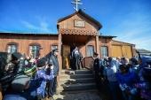Святейший Патриарх Кирилл посетил село Лаврентия на восточном берегу Берингова моря