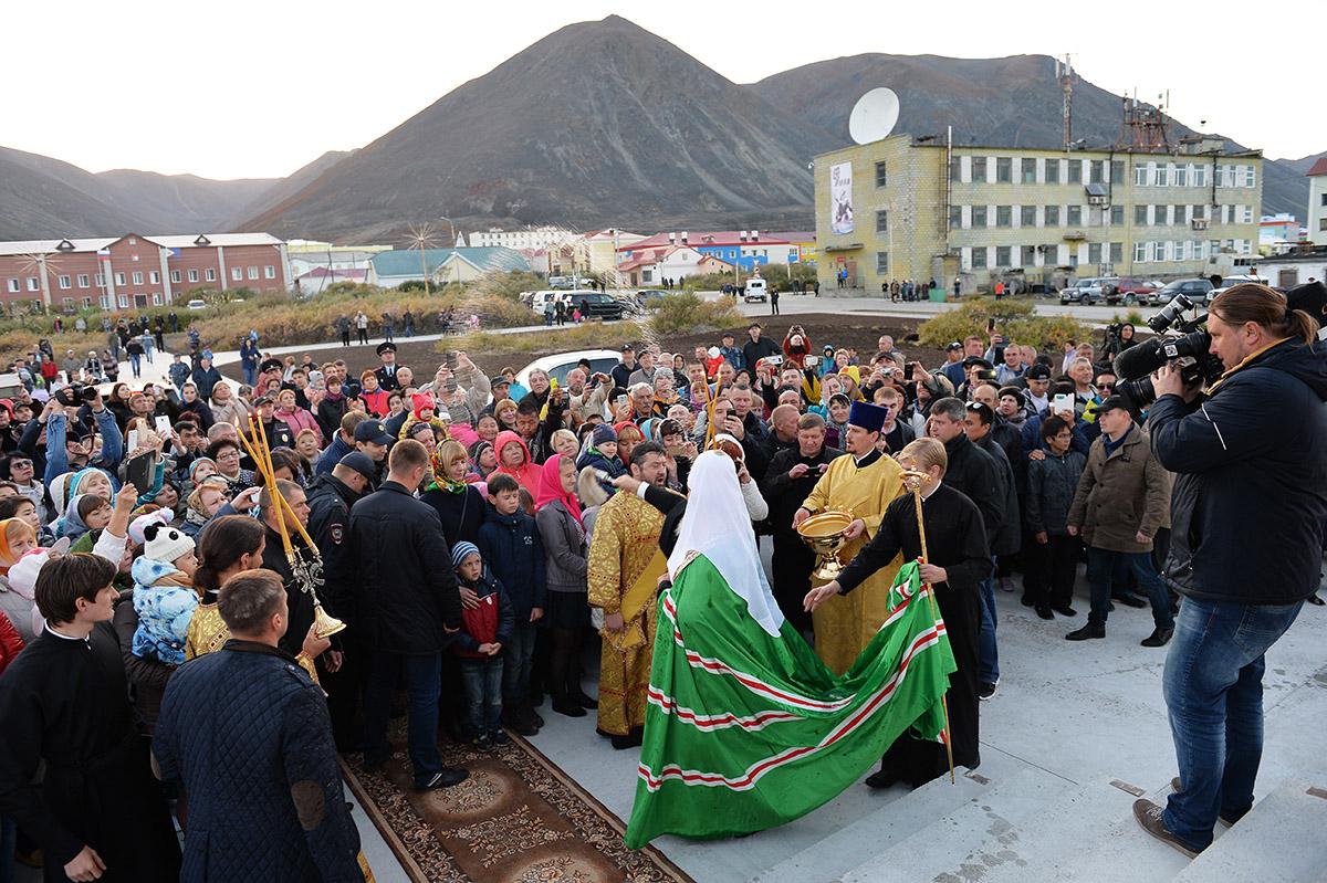 Патриарший визит в Анадырскую епархию. Освящение храма в чукотском поселке Эгвекинот