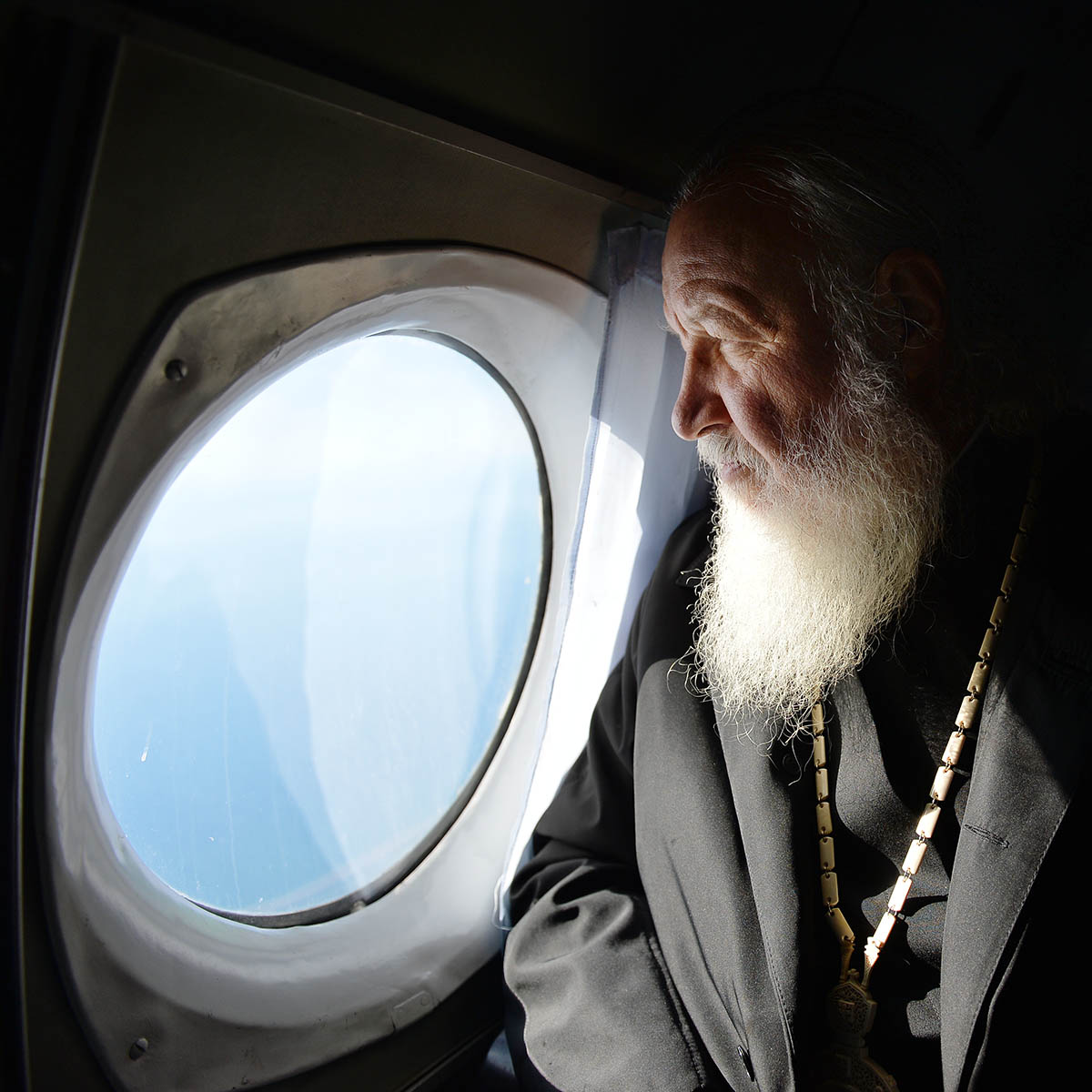Патриарший визит в Анадырскую епархию. Перелет из поселка Эгвекинот в село Лавренития