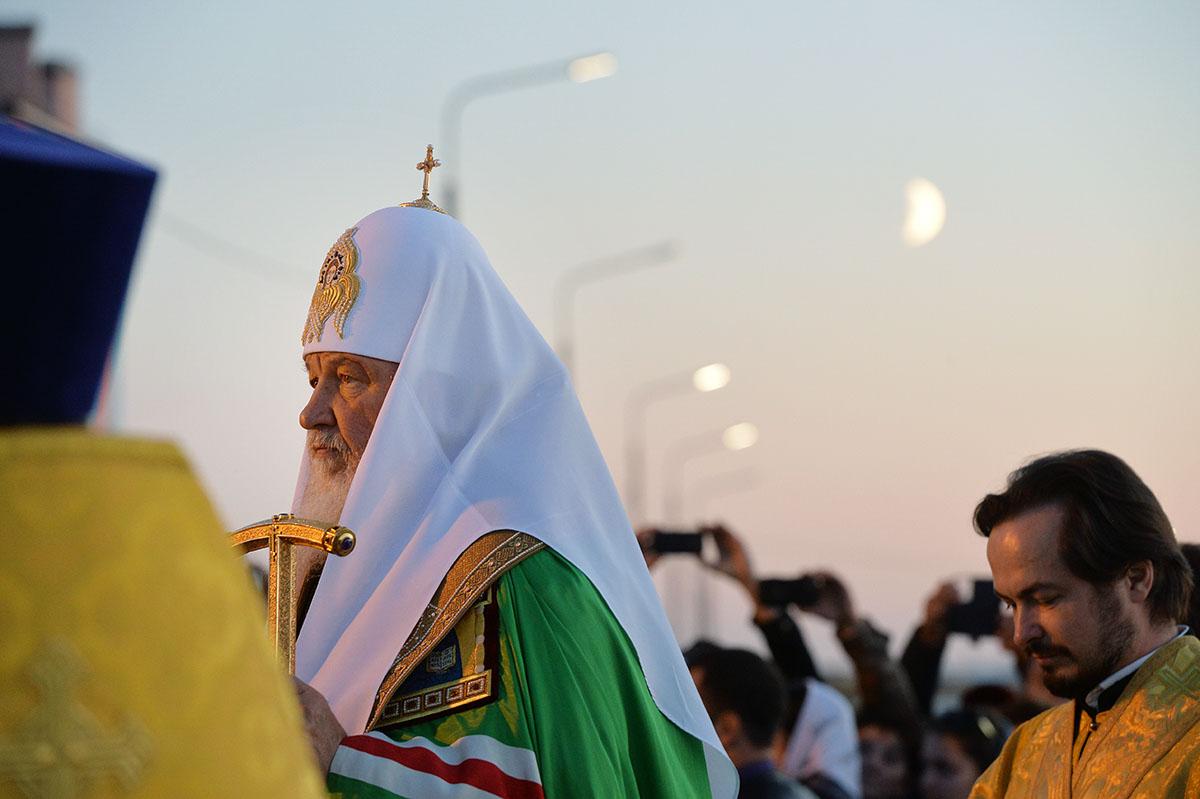 Патриарший визит в Анадырскую епархию. Закладка храма равноапостольного князя Владимира в поселке Угольные Копи