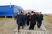 Патриарший визит в Якутскую епархию. Посещение научно-исследовательской станции «Самойловская»