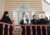 Слово Святейшего Патриарха Кирилла после молебна в Тикси