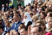 Святейший Патриарх Кирилл присутствовал на церемонии открытия Дня города Москвы на Красной площади