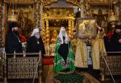 Проповедь Святейшего Патриарха Кирилла в праздник Усекновения главы Иоанна Предтечи после Литургии в Донском ставропигиальном монастыре