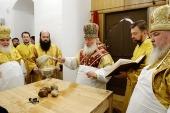 Святейший Патриарх Кирилл совершил освящение Малого собора Донского ставропигиального монастыря