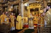 В день памяти Усекновения главы Иоанна Предтечи Предстоятель Русской Церкви совершил Литургию в Донском ставропигиальном монастыре