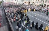В праздник перенесения мощей святого Александра Невского в Санкт-Петербурге прошел крестный ход
