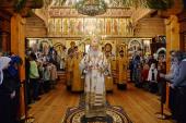 Предстоятель Русской Церкви совершил великое освящение Покровского храма подворья Зачатьевского ставропигиального монастыря в подмосковной Барвихе