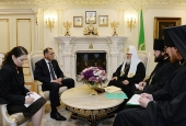 Святейший Патриарх Кирилл встретился с послом Израиля Ц. Хейфецем