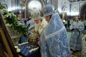 В канун праздника Рождества Пресвятой Богородицы Святейший Патриарх Кирилл совершил всенощное бдение в Храме Христа Спасителя г. Москвы