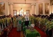 У день пам'яті преподобного Силуана Афонського Предстоятель Руської Церкви звершив Літургію в Даниловому ставропігійному монастирі