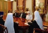 Состоялась встреча Святейшего Патриарха Кирилла с руководителями делегации Ирана на X заседании Совместной российско-иранской комиссии по диалогу «Православие-ислам»