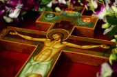 В канун праздника Воздвижения Креста Господня Святейший Патриарх Кирилл совершил всенощное бдение в Храме Христа Спасителя в Москве