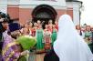 Патриаршее служение в праздник Воздвижения Креста Господня в храме Архангела Михаила в деревне Белоусово (Новая Москва)