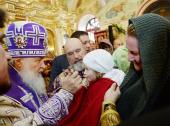 В праздник Воздвижения Креста Господня Предстоятель Русской Церкви освятил храм Архангела Михаила в деревне Белоусово (Новая Москва)