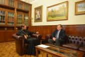 Митрополит Волоколамский Иларион встретился с новоназначенным постоянным представителем России при ЮНЕСКО