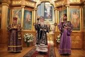В праздник Воздвижения Креста Господня Предстоятель Православной Церкви в Америке совершил Литургию в Патриаршем соборе Нью-Йорка
