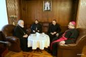 Патриарший экзарх всея Беларуси принял нового апостольского нунция в Республике Беларусь