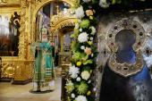 В день преставления преподобного Сергия Радонежского Святейший Патриарх Кирилл совершил Литургию в Успенском соборе Троице-Сергиевой лавры