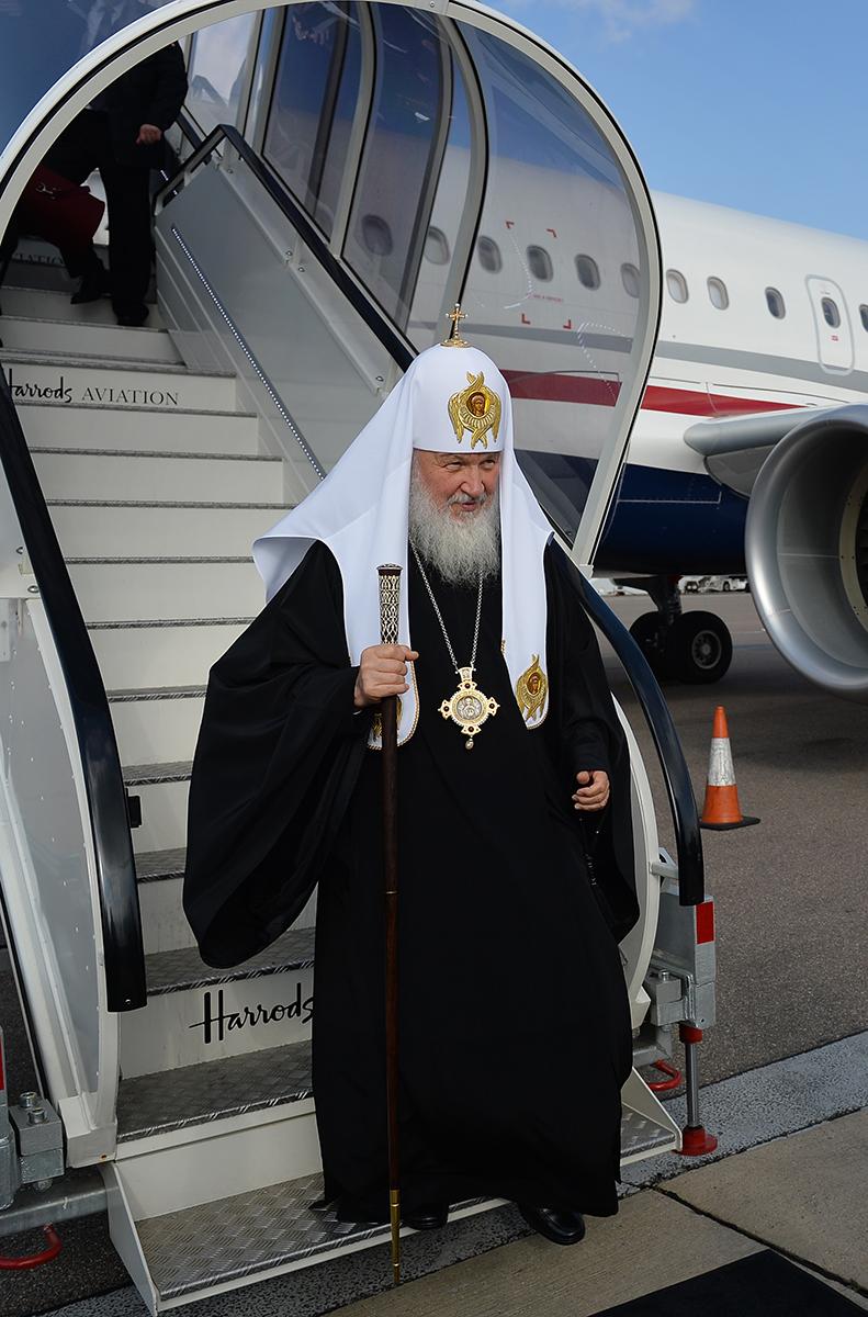 Визит Святейшего Патриарха Кирилла в Великобританию. Прибытие в Лондон