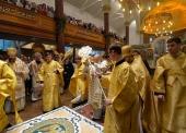 Святейший Патриарх Кирилл совершил освящение Успенского собора Сурожской епархии после реконструкции