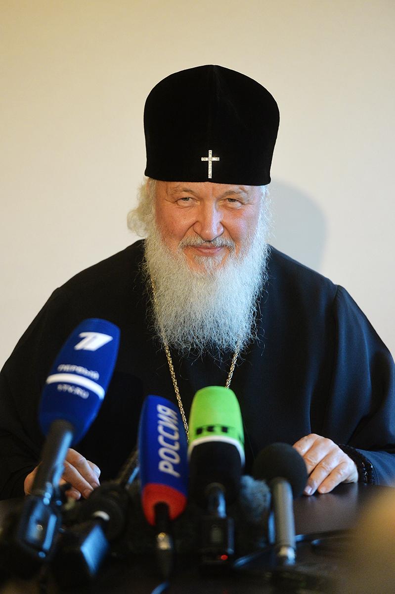 Визит Святейшего Патриарха Кирилла в Великобританию. Итоговая пресс-конференция