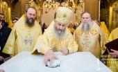 Предстоятель Украинской Православной Церкви совершил Литургию в новоосвященном храме в честь Всех святых в Умани
