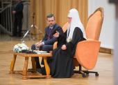 Святейший Патриарх Кирилл встретился с участниками VII Международного фестиваля «Вера и Слово»