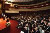 Святейший Патриарх Кирилл принял участие в открытии X Ассамблеи Фонда «Русский мир»