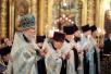 Патриаршее служение в канун праздника Казанской иконы Божией Матери в Богоявленском кафедральном соборе в Москве
