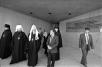 Во время визита Святейшего Патриарха Алексия II на Святую Землю. Посещение мемориала жертвам холокоста. 27 марта 1991 г.