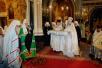 Первое богослужение после восстановления единства Русской Православной Церкви. Москва, Храм Христа Спасителя. 17 мая 2007 г.