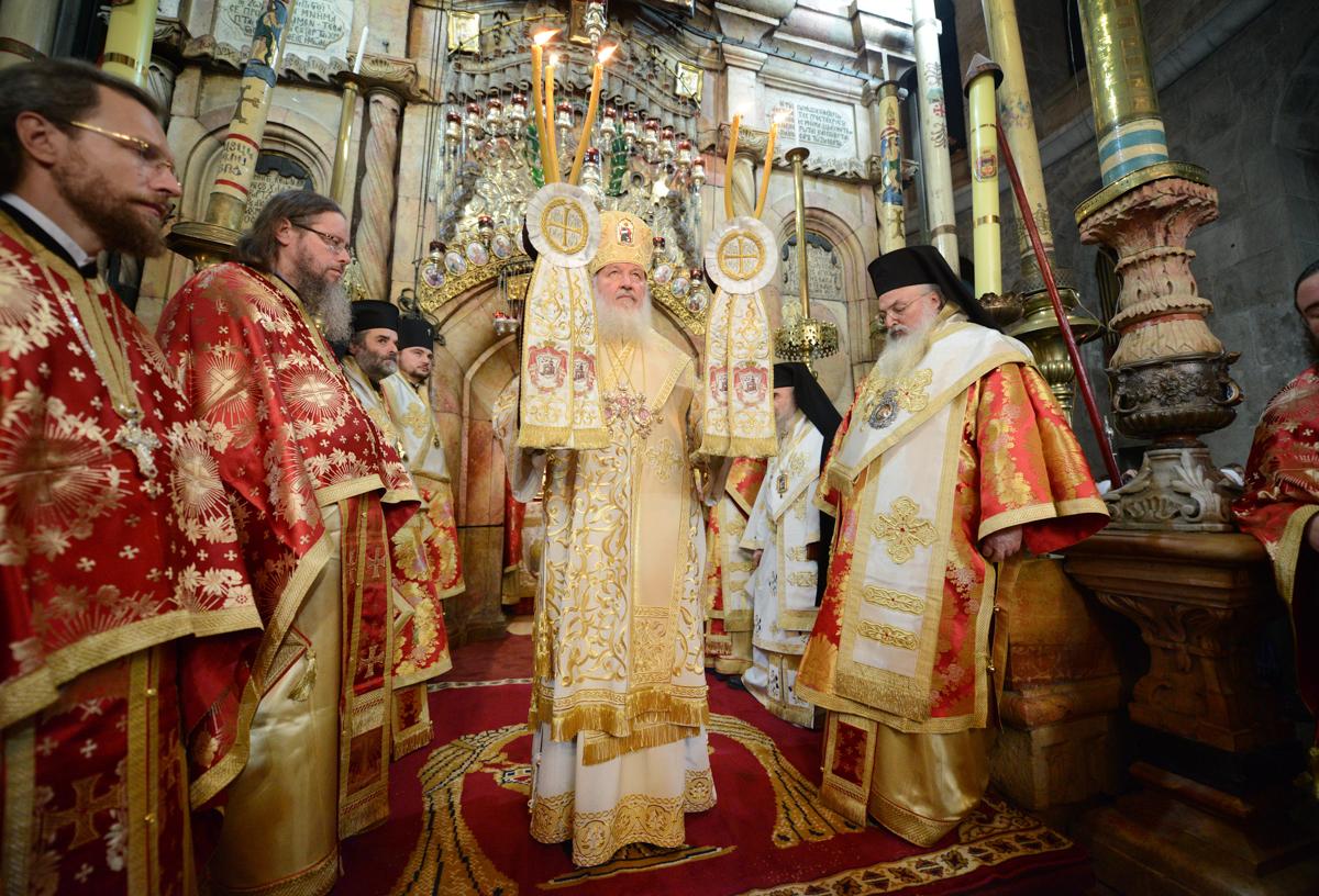 Литургия у Гроба Господня в Иерусалиме. 11 ноября 2012 г.