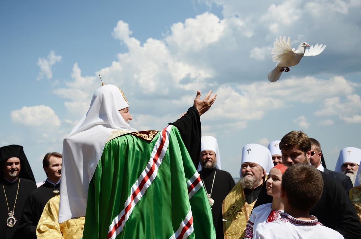 Молебен на Владимирской горке в Киеве. 27 июля 2012 г.
