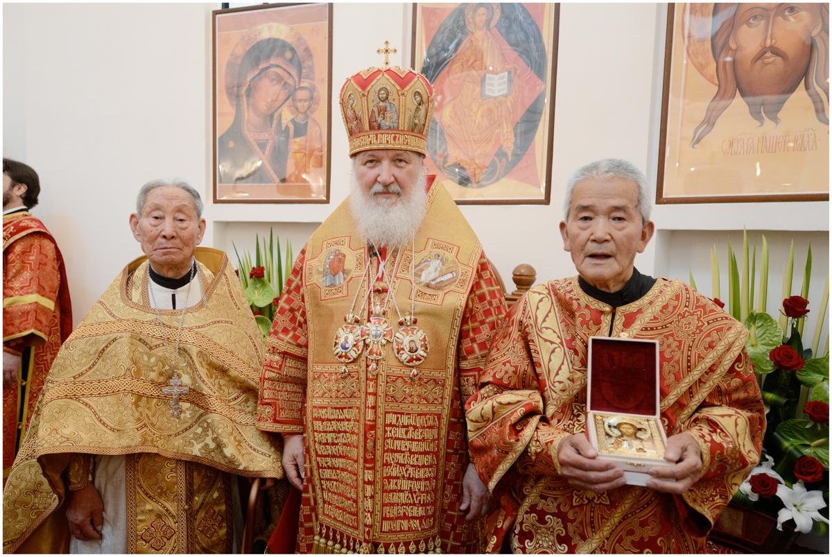 Со старейшими клириками Китайской Православной Церкви. Шанхай, Китай. 15 мая 2013 г.