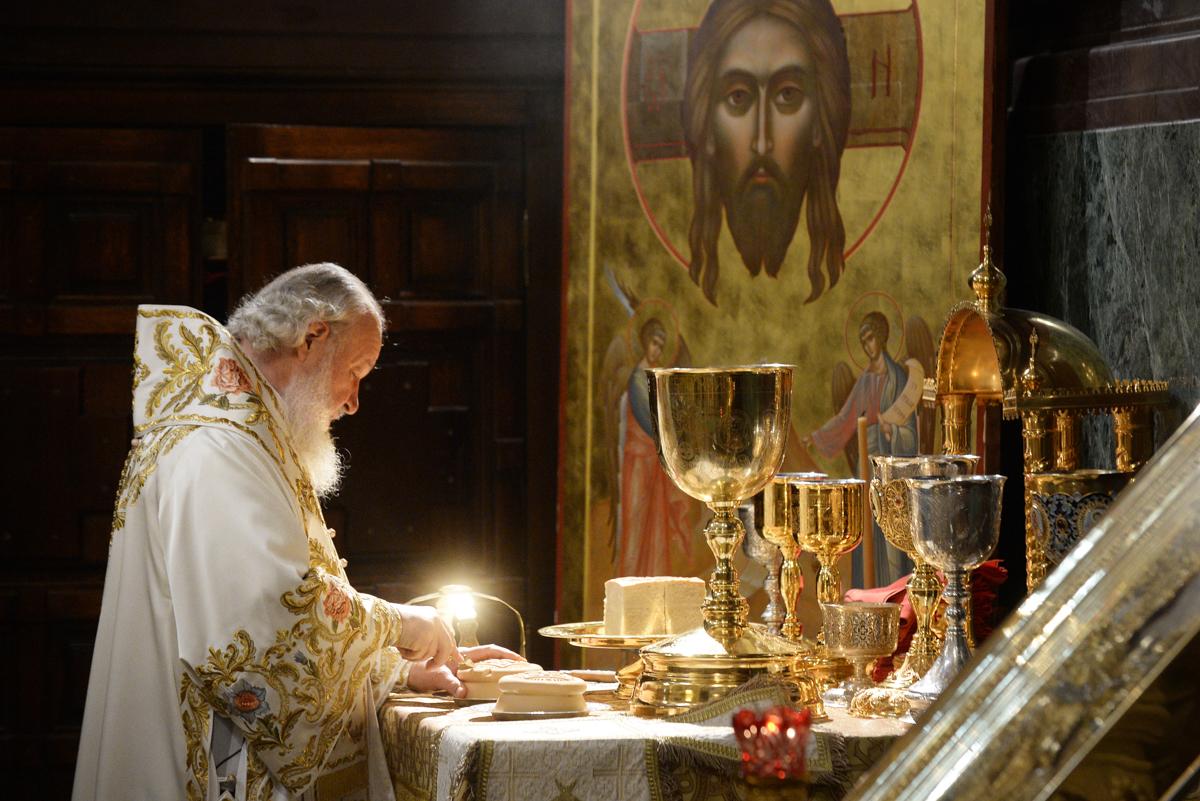 Служение в Храме Христа Спасителя в Москве. 24 мая 2015 г.