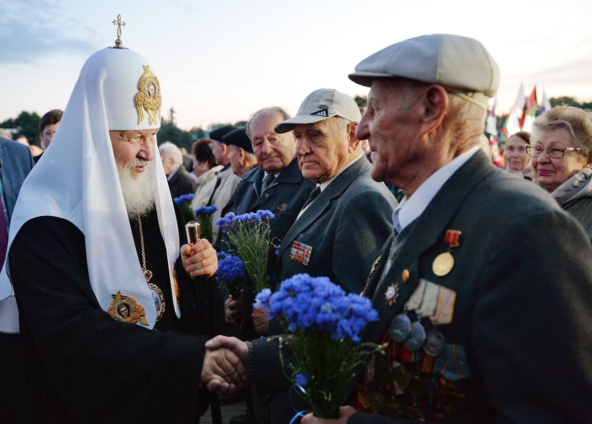 Встреча с ветеранами в Бресте, Белоруссия. 21 июня 2015 г.